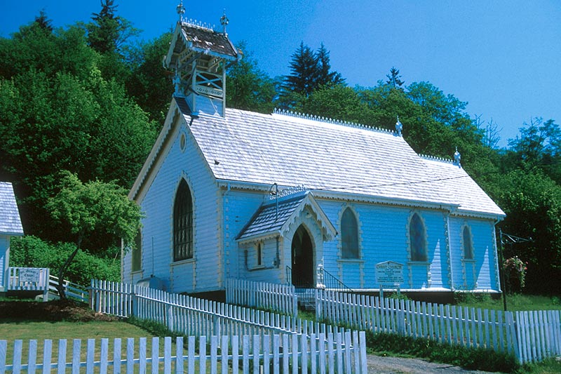 Christ Church, Alert Bay, Cormorant Island, Queen Charlotte Strait, British Columbia, Canada