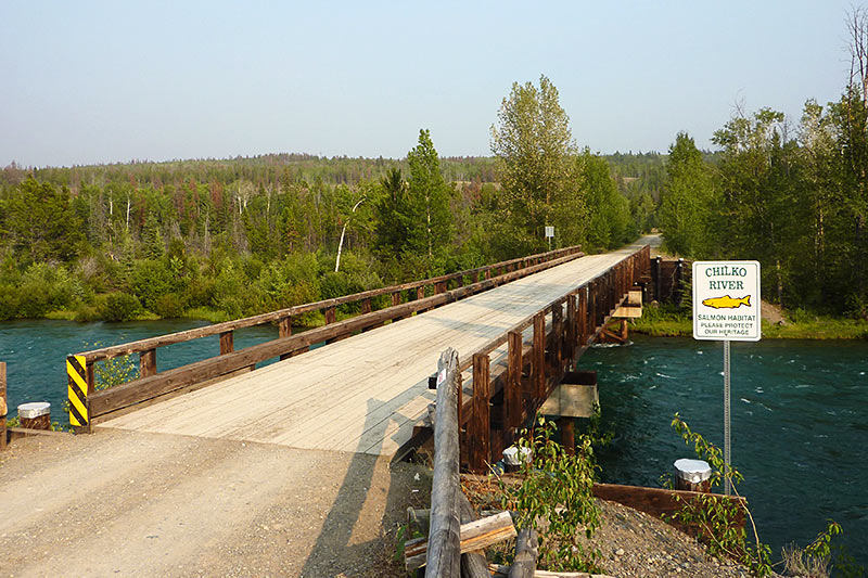 Chilko River at Tsuniah Lake Road, north of Chilko Lake, Chilcotin, British Columbia, Canada