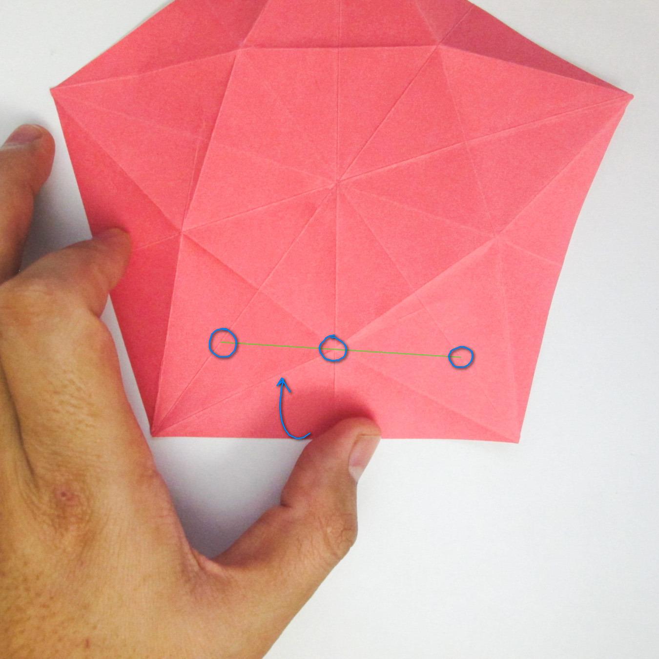 สอนวิธีการพับกระดาษเป็นดอกมะเฟือง (Origami Carambola) 014