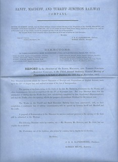 Banff, MacDuff and Turriff Junction Railway Director's report 1857   by ian.dinmore