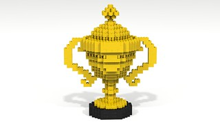 Yellow Lego Trophy with Curved Handles & Top | by dluders