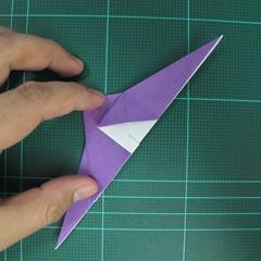 วิธีพับกระดาษเป็นรูปนกอินทรี (Origami Eagle) 008