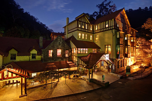 architecture bluehour bluemountains caveshouse dusk edwardian hotel jenolan jenolancaves night twilight nsw newsouthwales accommodation australia