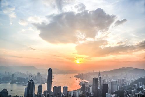 city morning light sun sunrise hongkong explore