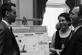 Jason Priem and Heather Piwowar present ImpactStory to Open Access advocate Mike Rossner