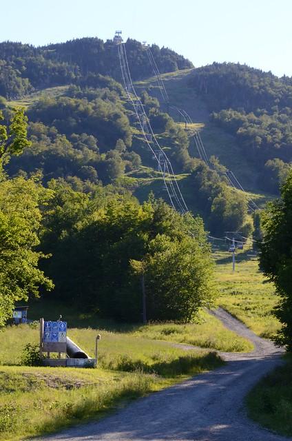 Les Pente De Ski Du Mont-Orford En Été.