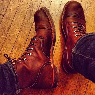 Merry early Xmas to myself. Stepped up my game today with a pair of #redwing Heritage boots. Iron Rangers FTW.