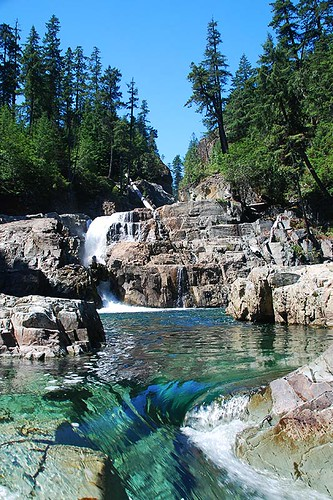 Lower Myra Falls, Strathcona Provincial Park, Central Vancouver Island, British Columbia, Canada