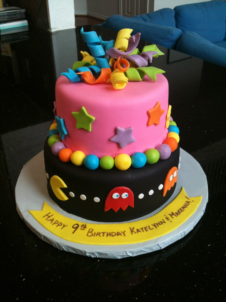 Remarkable 9 Year Old Twins Birthday Cake 80S Theme Chocolate And Va Flickr Funny Birthday Cards Online Alyptdamsfinfo