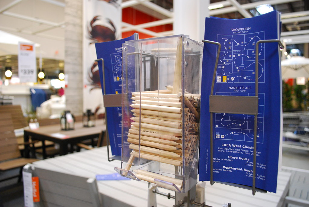 IKEA pencils and maps at the West Chester (Cincinnati subu ...