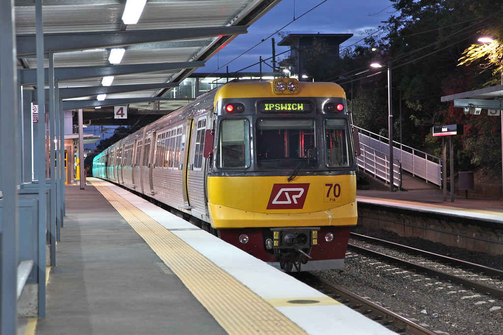 Ipswich to Bowenhills train, Corinda railway Station by Lance CASTLE
