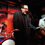 Wed, 26/03/2014 - 3:24pm - The Hold Steady on release day for Teeth Dreams, at Hill Country BBQ in NYC, with an audience of WFUV Marquee Members. Hosted by Dennis Elsas. Photo by Gus Philippas.
