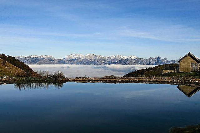la val Belluna sotto le nuvole