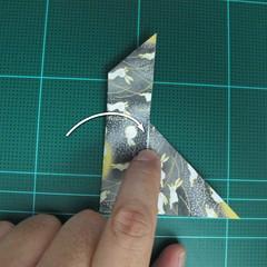 วิธีพับกระดาษเป็นรูปลูกสุนัข (แบบใช้กระดาษสองแผ่น) (Origami Dog) 026