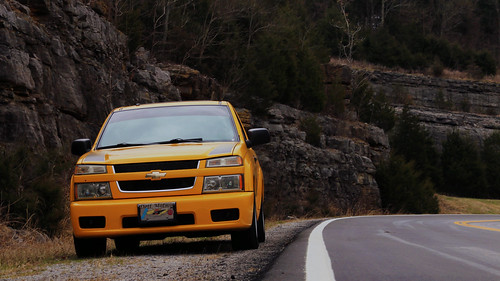 Yellow Chevy Trucks on the road in Columbia, TN
