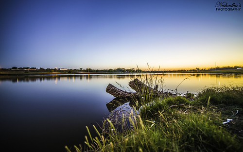 sunset sky usa lake reflection water grass canon evening log texas afternoon tx may dunbar lubbock 6d 2014 neshadha