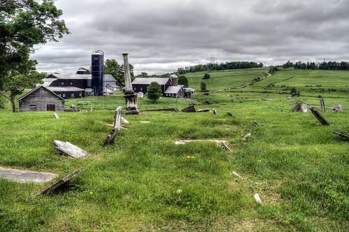 cemetery barn rural farm scenic