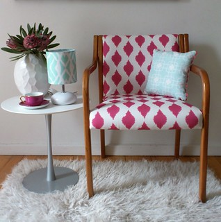 Inkblot Ikat Armchair | Salvaged and re-upholstered in my ...