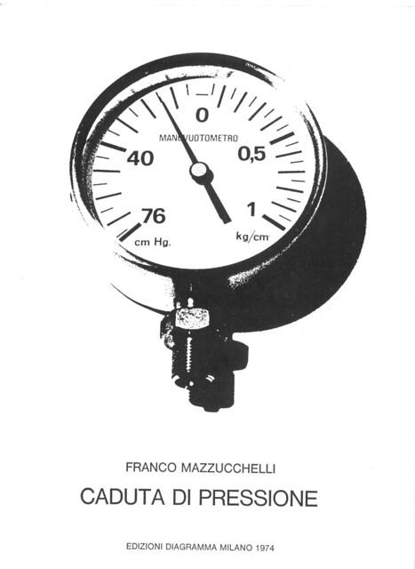 1972 Personale Caduta di pressione Galleria Diagramma Milano