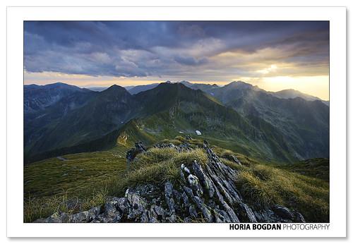 light sunset mountain nature grass rock stone clouds landscape ray alpine romania carpathian horiabogdan gettyromania1
