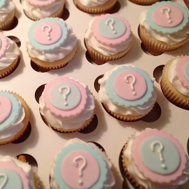 Gender Reveal Cupcakes Cupcakes Pink Blue Girl Boy C Flickr