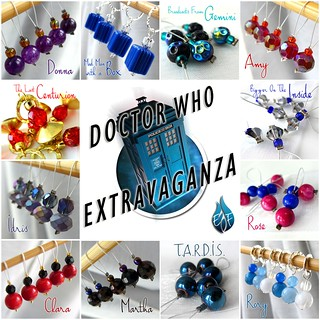 Doctor Who Mosaic - Exchanging Fire Stitch Markers 2013