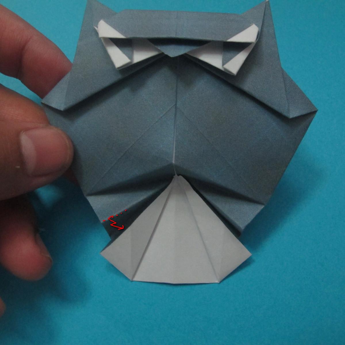 วิธีการพับกระดาษเป็นรูปนกเค้าแมว 035