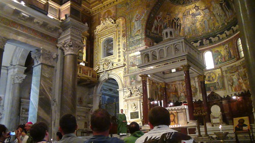 Messa a Santa Maria in Trastevere per il pellegrini Pro-life dagli Stati Uniti   by monspaglia