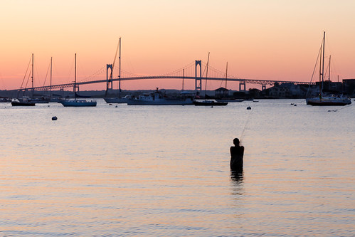 Fishing in Newport at Sunset | by mike_dooley