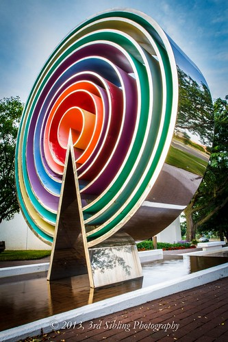 sunset sculpture art colors canon eos rainbow cityscape july iowa rings ia 7d westdesmoines 2013 canon7d don3rdse holmesmurphy 3rdsiblingphotography