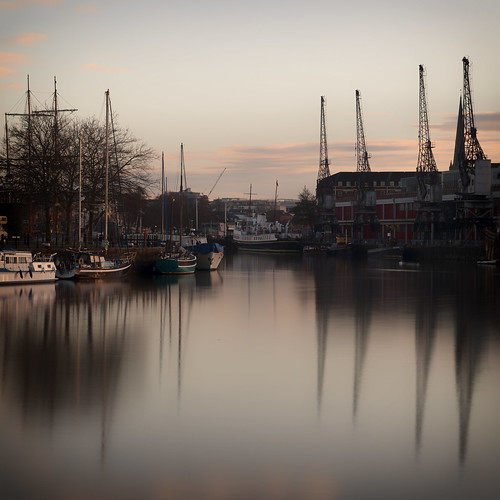 uk morning england cloud reflection water port marina sunrise river bristol island boat canal harbour crane cut side somerset quay spike mast harbourside mygearandme