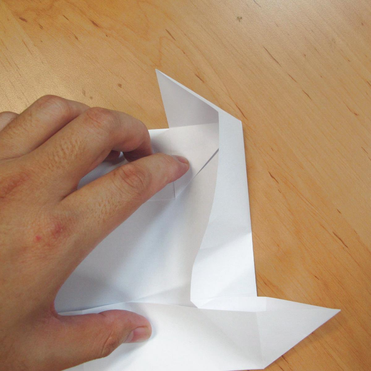 สอนการพับกระดาษเป็นที่ใส่ของรูปกลีบกุหลาบ (Rose box origami) 028