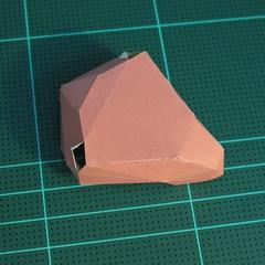 วิธีทำโมเดลกระดาษเรขาคณิตรูปกระต่าย (Rabbit Geometric Papercraft Model) 009