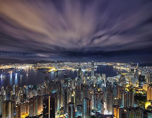 city hk night landscape hongkong golden construction wide ultra 1224 a99
