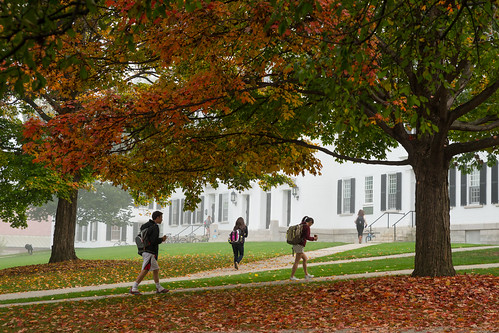 autumn fall students architecture buildings campus dartmouth dartmouthhall
