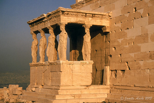 travel film sunrise 35mm ruins europe 1988 slide athens greece porch acropolis caryatids scannedslide attica the erechtheion