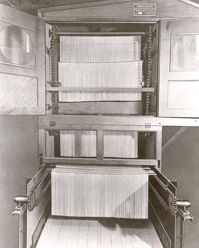 "Long Goods Dryer - 1940's In those days we were called ""Consolodated Macaroni Machine Company"""