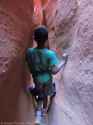 Narrow section of Spooky Slot, Grand Staircase-Escalante National Monument, Utah