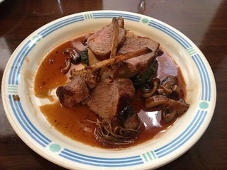 Local lambshank with mushrooms | by Texarchivist