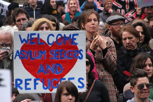 Welcome asylum seekers and refugees - Refugee Action protest 27 July 2013 Melbourne | by John Englart (Takver)