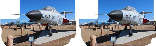 california airplane 3d aircraft jet stereo palmdale voodoo f101 crosseyedstereo stereographics airfroce thejoedaviesheritageairpark