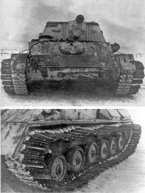 Танк советского Су-76 гусеничный зимний