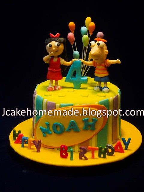 Phineas and Isabella birthday cake