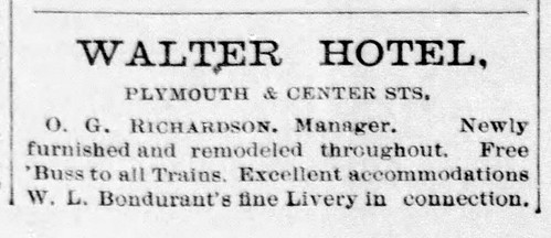 1898 - O G Richardson's Walter American House Hotel - Enquirer - 21 Jan 1898 | by historic.bremen