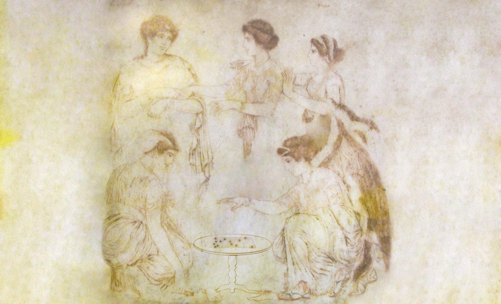 Petteia - Ludus Latrunculorum  / Iconografía de las civilizaciones helenolatinas