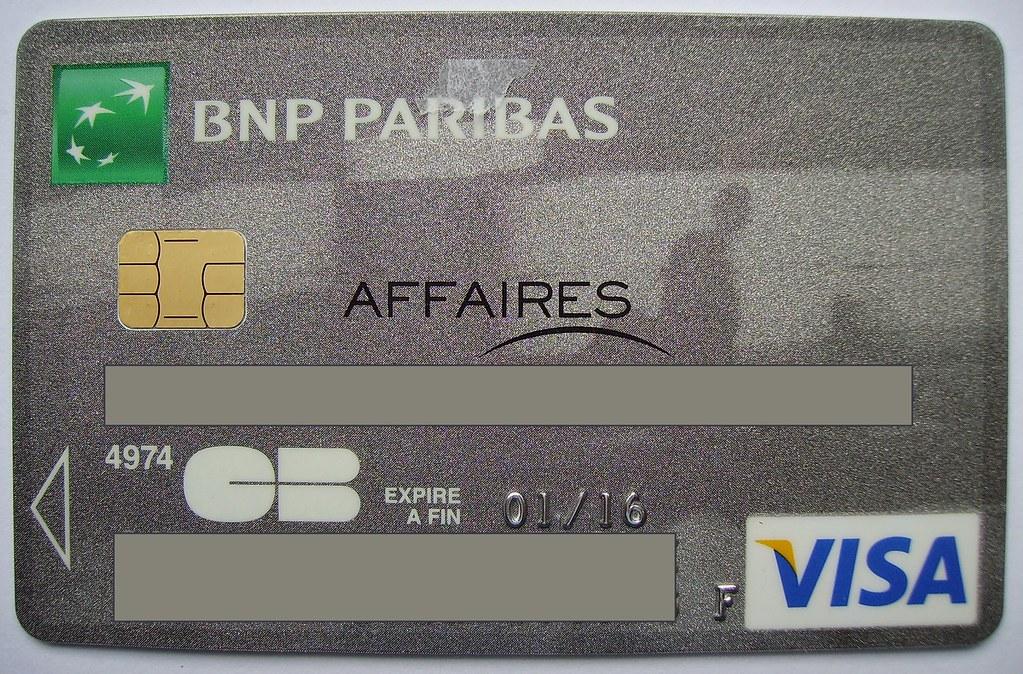 Carte Affaires Bnp Paribas Carte Bancaire Annee 2013 Flickr