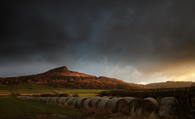 Roseberry Topping - clouds and winter light