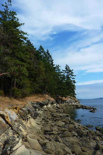 Gallagher Bay, facing Piggott Bay, on Mayne Island, Southern Gulf Islands, British Columbia