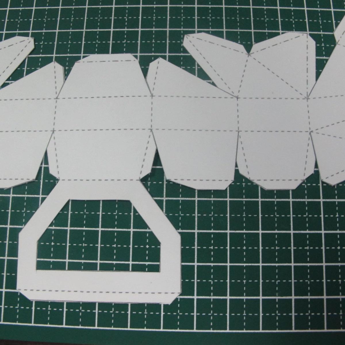 วิธีทำของเล่นโมเดลกระดาษรูปนก (Bird Paper craft ) 016