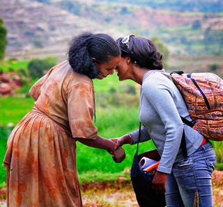 Greeting a Friend, Tigray | by Rod Waddington